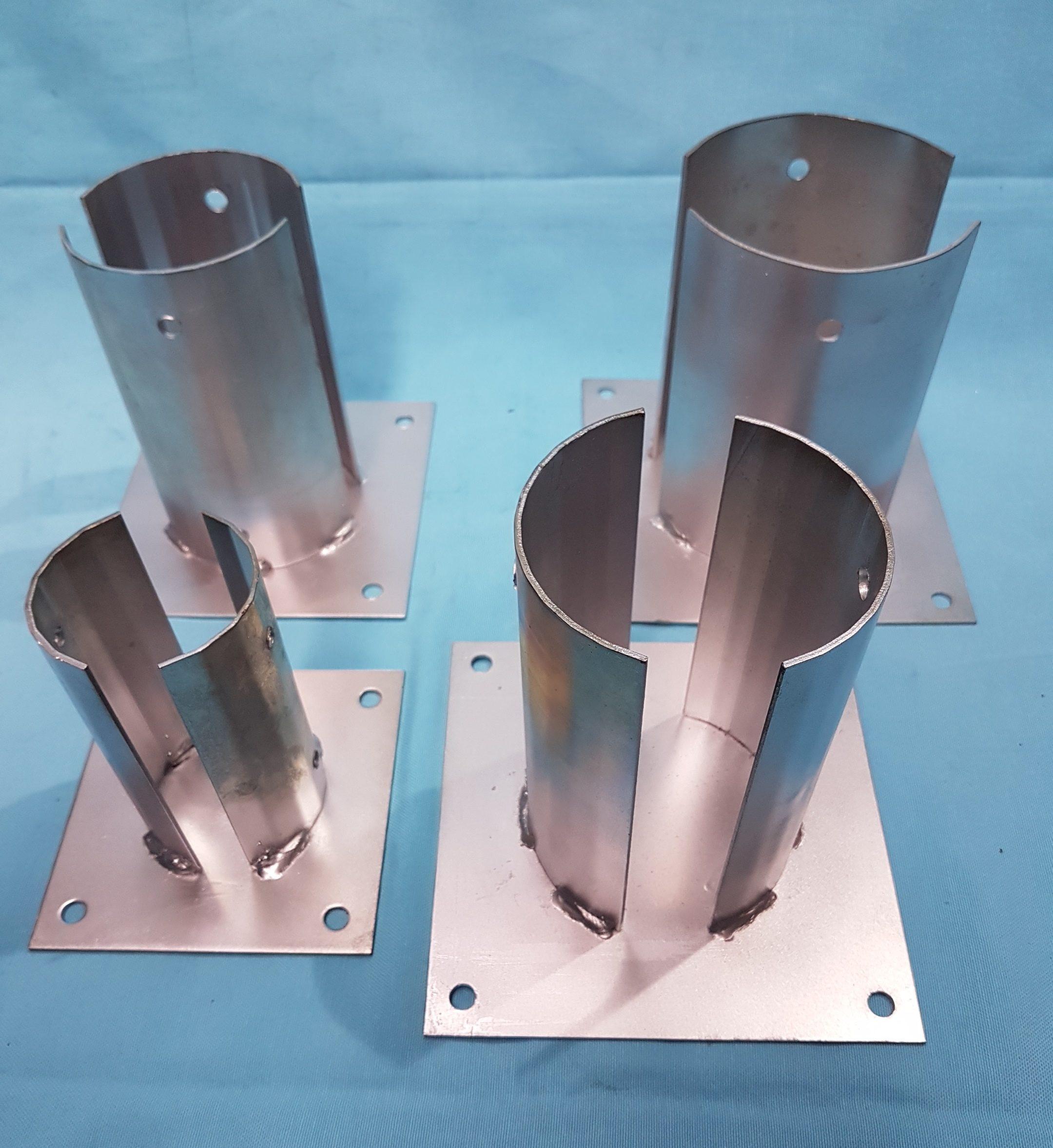 100mm 4 Heavy Duty Premium Quality Round Galvanised Steel Fence Post Cap